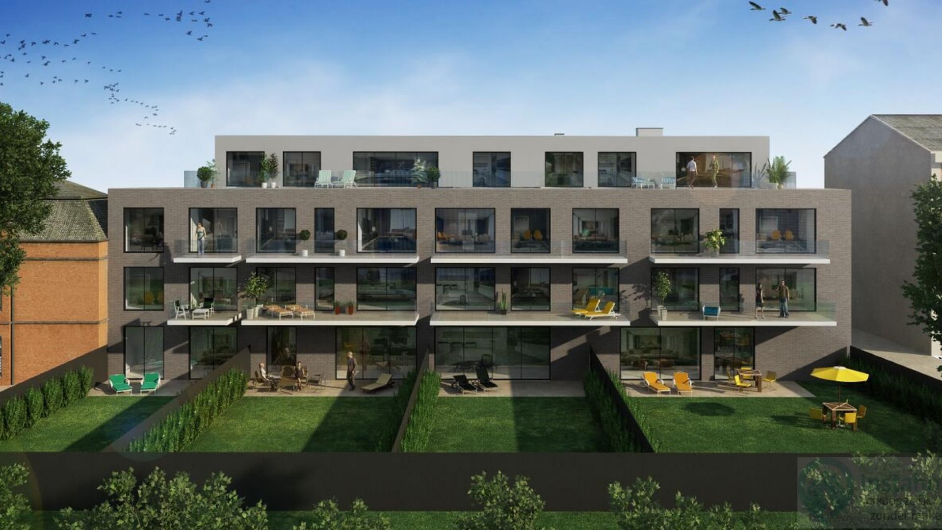 Project bestaande uit 18 appartementen met terras, kelders en parking.