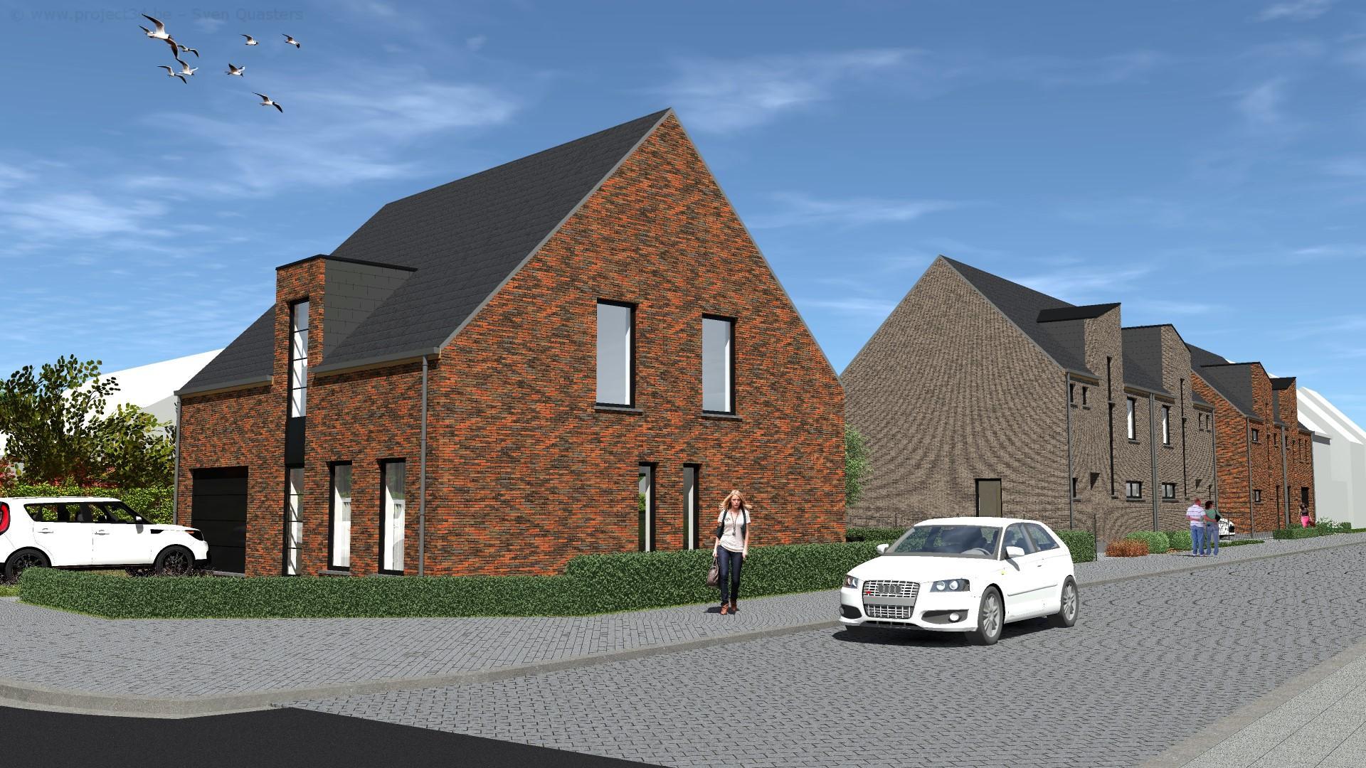 Nieuwbouwwoning met 3 slaapkamers, tuin, terras en garage. Afwerking naar keuze.